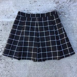 Silence + Noise Skirt Wide Pleats Windowpane